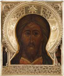 LARGE ICON OF CHRIST THE ALMIGHTY WITH VERMEIL-RIZA