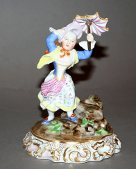 Vienna, middle of the XIX century, porcelain, overglaze polychrome painting