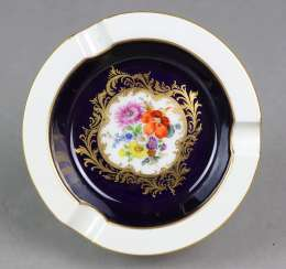 Meissen Cobalt Ash Tray *Flower Bouquet*