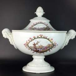 Neo-classical pomp Terrine: Meissen porcelain Marcolini-time to 1775/80, 1. Choice, port brochure, rare, very good.
