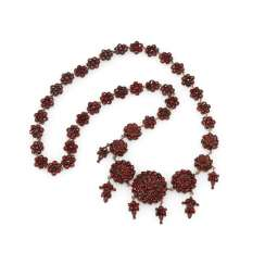 Garnet necklace 2. Half of the 19th century. Century