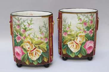 Pair of two French Louis Phillipe Porcelain Vases, 19. century