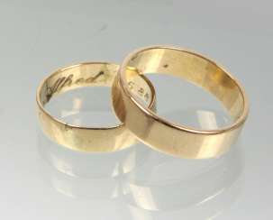 Pair of wedding rings - GG 585