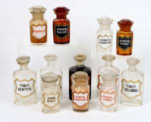 antique apothecary vessels