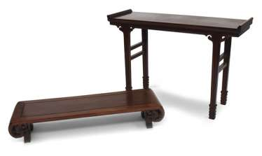 Two Tables, Hard Wood, China,