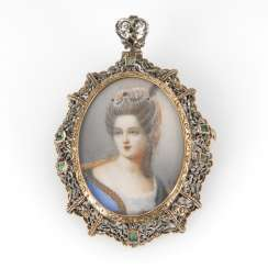 Brooch/pendant with ladies ' portrait, the end of the 19th century