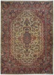 One of the great old Kirman Laver carpet
