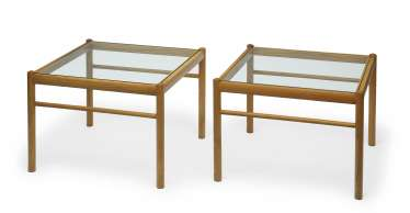 Two side tables 'Colonial table OW 449'