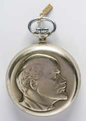 POCKET WATCH FROM THE MANUFACTURER MOLNIJA WITH LENIN PORTRAIT