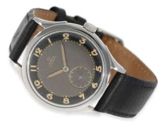 Watch: collector's watch, very early Omega automatic watches with Hammer automatic transmission and black dial, 40s