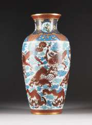 Large CLOISONNÉ VASE WITH dragon decoration