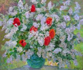 Tenderness of spring flowers Painting by Aleksandr Dubrovskyy