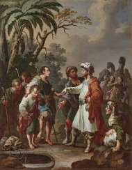 Joseph is sold by his brothers. Unknown 18. Century