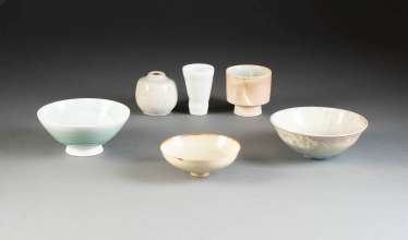 SIX OF THE ARTIST'S CERAMICS. Germany, 2. Half of the 20th century. Century, a variety of ceramic artists