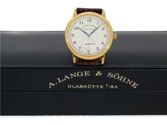 Wrist watch: high quality, unworn vintage men's watch in 18K yellow gold, A. Lange & Söhne