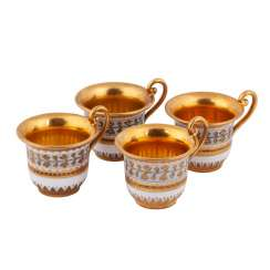 Set of four Russian porcelain cups