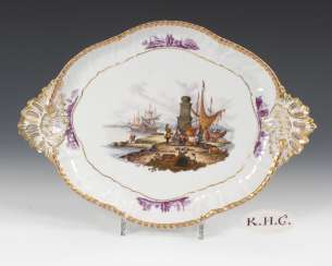Tray with kauffahrtei-painting, DRESDEN