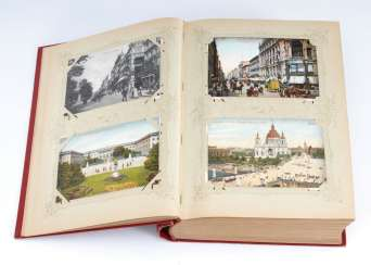 Post card album with 304 view cards.