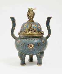 Cloisonné Incense Burner. China, Qing
