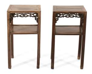 Pair Of Side Tables, Wooden