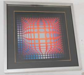 VASARELI, CONV. ABSTRACT COMPOSITION , photo print, 20. Century
