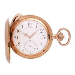 IWC man's pocket watch with watch case in rose Gold 14K, 1900/1905.