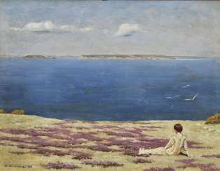 Girls on the coast of the channel Islands