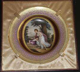 A plate of miniature, 1785, Royal Vienna manufactory