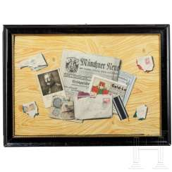 Trompe-l'oeil with letters and newspaper from World War I, Munich, 1916