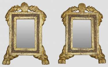 Pair of small Louis XVI wall mirrors