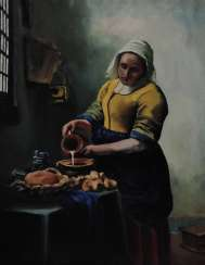 "Copy of ""The maid pouring milk"""