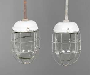 Pair Of Industrial Lamps