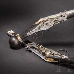A Pair of wheel-lock buffer for the teams of the electoral body guard (2. Model), dated, respectively, 1594