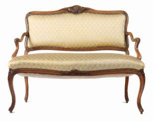 Rococo style salon bench from the end of the 19th century