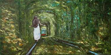 Тunnel of love. Ukraine.