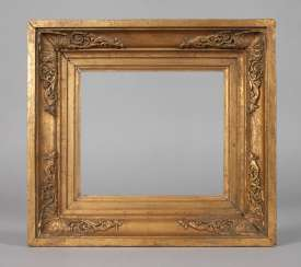 Gold stucco frame, circa 1870