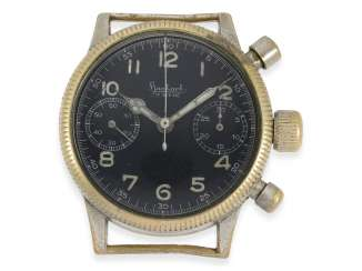 Watch: vintage WW2 military watch, in the past, Hanhart Flyback Chronograph, pilot's watch, cal.41, CA. 1944