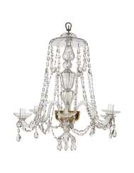 A BOHEMIAN BAROQUE CUT AND MOULDED-GLASS SIX-LIGHT CHANDELIER