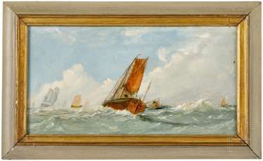 A Couple of small format paintings with marine motifs, English/Netherlands, 19. Century