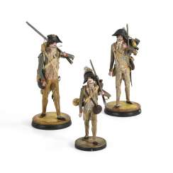 3 rare French soldiers figures