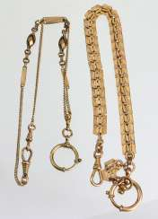 2 watch chains, around 1920