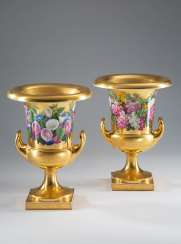 Pair of crater vases KPM Berlin