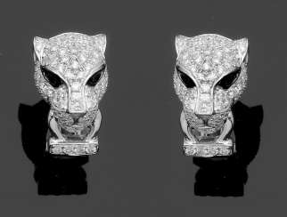 Pair Of Panther Heads Earrings