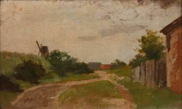Windmill in a summer landscape
