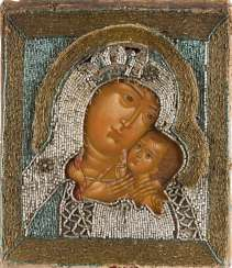 ICON WITH THE MOTHER OF GOD OF CHERSON (KORSUNSKAJA) WITH PERL-OKLAD Russia