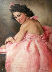 Portrait of a ballerina Pal Fred. 1920-30-e