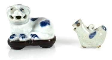 Two small porcelains in animal shape