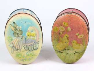 2 Easter Tin Cans
