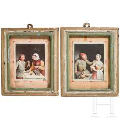 A pair of small tromp l'oeil paintings, Holland, 18./19. century