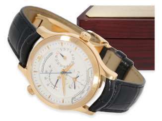 Watch: very high quality Jaeger Le Coultre world time watch in 18K rose gold